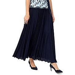 Jacques Vert - Maxi plisse lace insert skirt