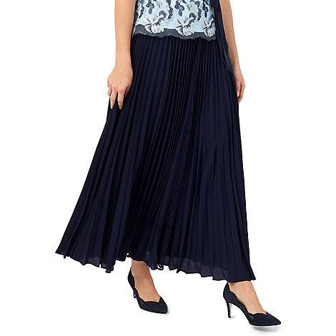 jacques vert maxi plisse lace insert skirt debenhams