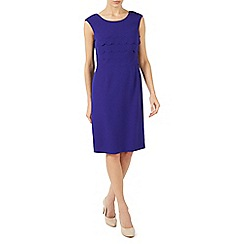 Jacques Vert - Mid blue scallops layers dress