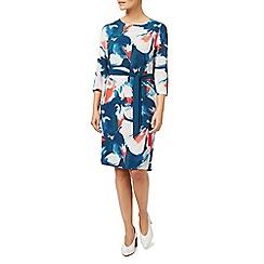 Eastex - Printed tie waist woven dress
