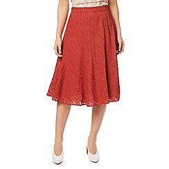 Eastex - Dark red burnout a-line skirt