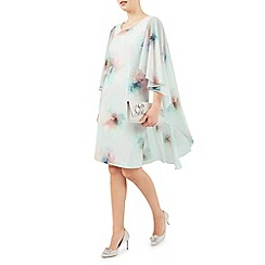 Jacques Vert - Printed drape cape dress