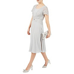 Jacques Vert - Grey delicate lace soft dress