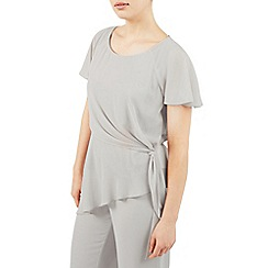 Jacques Vert - Grey asymmetric tie side top