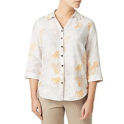 Eastex - Multicoloured coral print blouse