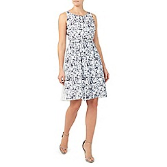Jacques Vert - Printed plisse midi dress