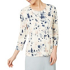 Eastex - Reflective bloom print top