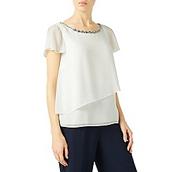 Jacques Vert - Jewel trim layers top