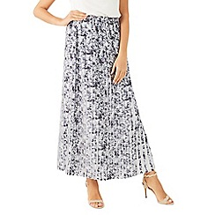 Jacques Vert - Printed plisse contrast skirt