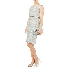 Jacques Vert - Grey burnout stripe Shel dress