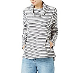 Dash - Double stripe cowl top