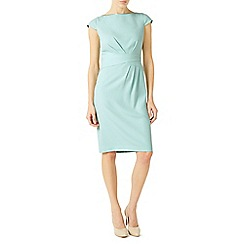 Jacques Vert - Light green sleeve body detail crepe dress