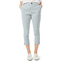 Dash - Ticking stripe crop trousers