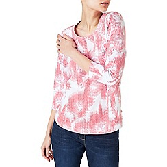 Dash - Graphic bloom coral jersey top