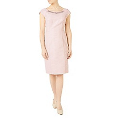 Jacques Vert - Petite embellish lurex dress