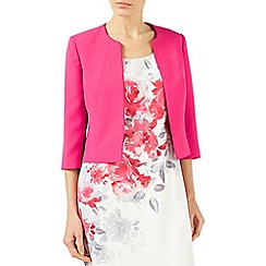 Jacques Vert - Bright pink styled crepe edge to edge jacket