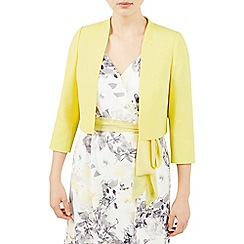 Jacques Vert - Pale yellow crepe bolero jacket