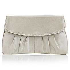 Jacques Vert - Metallic leather clutch bag