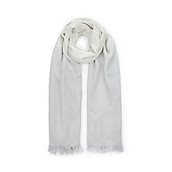 Jacques Vert - Grey lurex ombre scarf