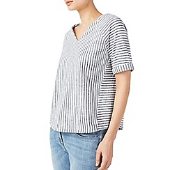 Dash - Notch neck stripe top