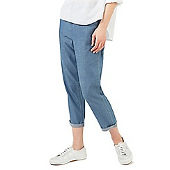 Dash - Chambray crop trousers