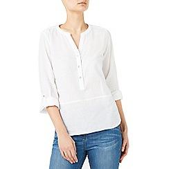 Dash - Wrapside linen blouse