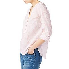 Dash - Etched hut linen blouse