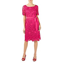 Jacques Vert - Pright pink flower lace shift dress