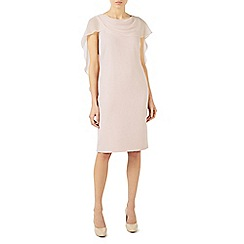 Jacques Vert - Pale pink wrap drape cape dress