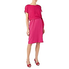 Jacques Vert - Bright pink crepe and chiffon dress