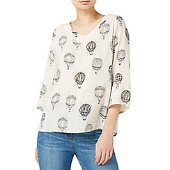 Dash - Multicoloured hot air balloon woven top