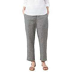 Dash - Texture linen stripe trousers