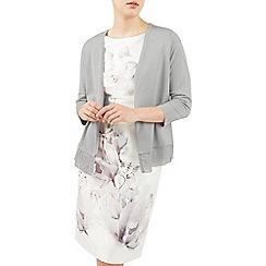 Jacques Vert - Grey lace trim cardigan