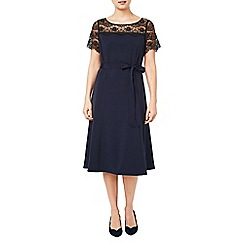 Jacques Vert - Lace yoke crepe dress