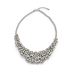 Jacques Vert - Diamante cluster necklace