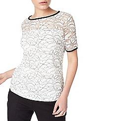 Precis - Petite multicoloured bethan mono lace top