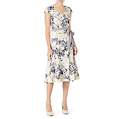 Jacques Vert - Printed soft wrap dress