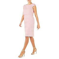Jacques Vert - Pale pink geo lace shelf dress