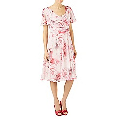 Jacques Vert - Multicoloured soft rose print dress