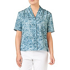 Eastex - Barcelona harbour print blouse