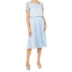 Jacques Vert - Plisse lace insert skirt