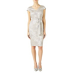 Jacques Vert - Grey subtle jacquard dress