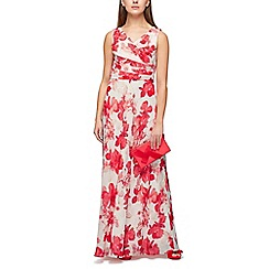 Jacques Vert - Hibiscus printed maxi dress
