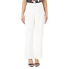 Precis - Petite white wide leg trousers