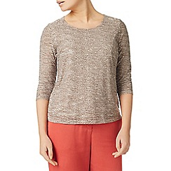 Eastex - Multicoloured mixed texture jersey top