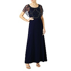 Jacques Vert - Beaded shawl maxi dress