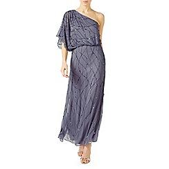 Jacques Vert - Light grey one shoulder gown dress