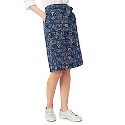 Dash - Printed tie-waist skirt