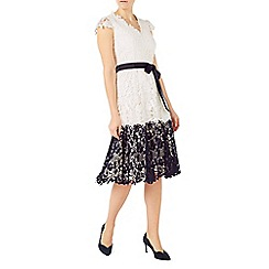 Jacques Vert - Contrast lace border dress