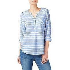Dash - Light blue texture stripe blouse
